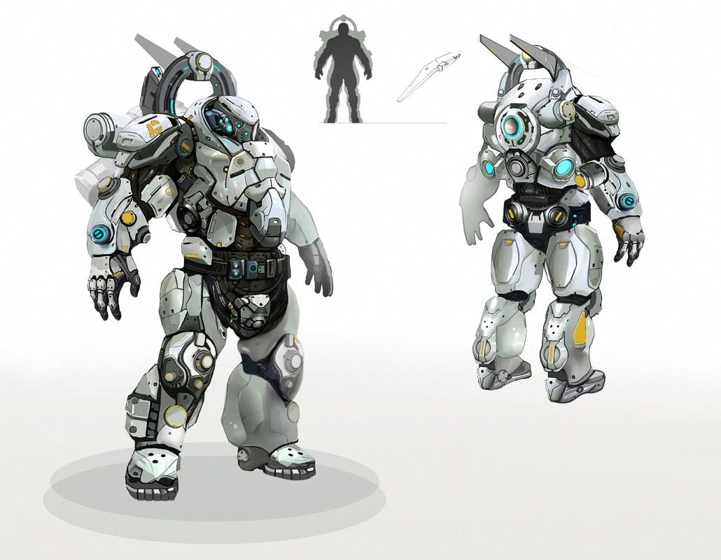 Dominion Armor Concept Art (First Version of Color Scheme)