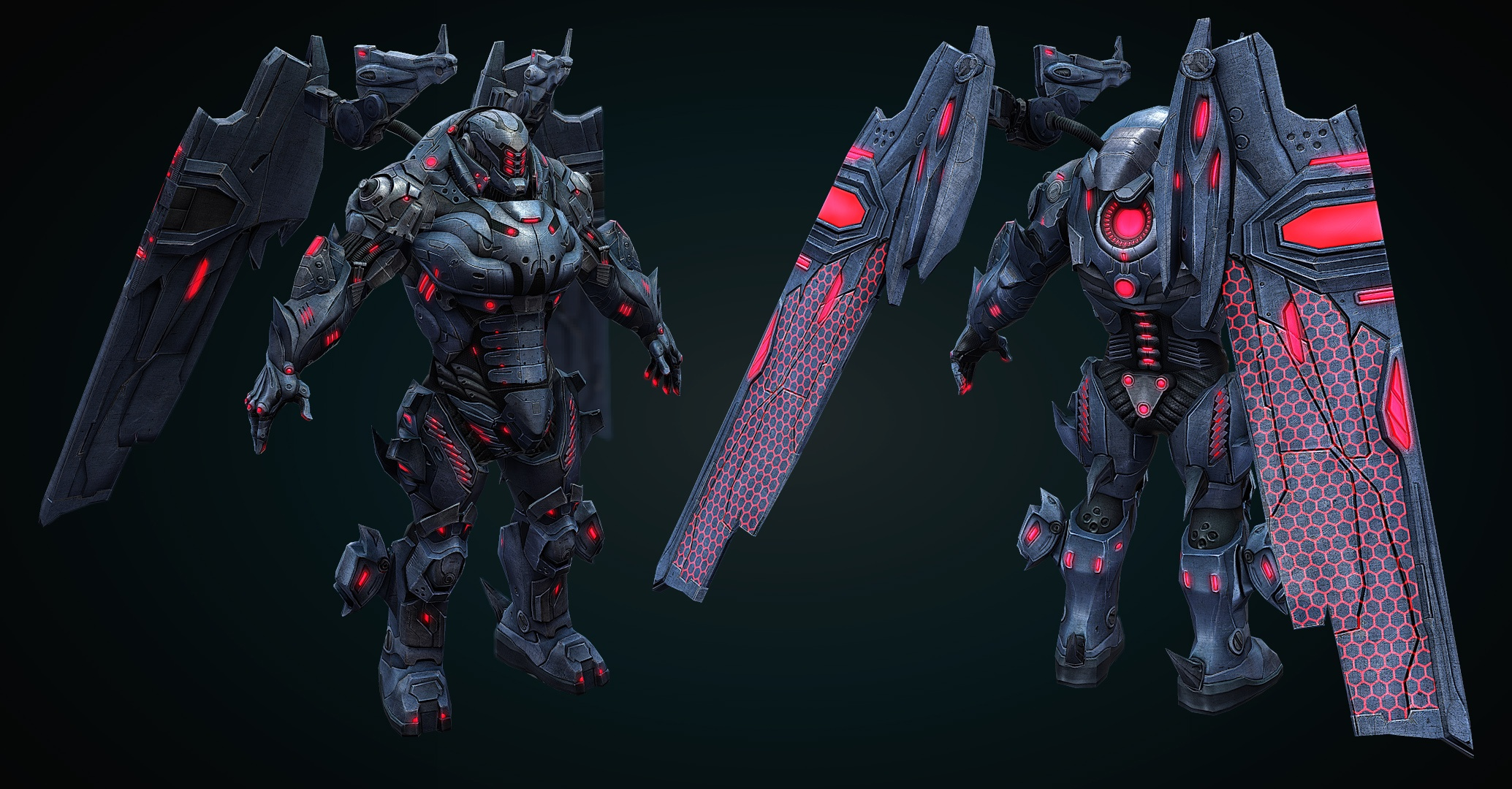 Protoarmor Rendering (First Version of Color Scheme)