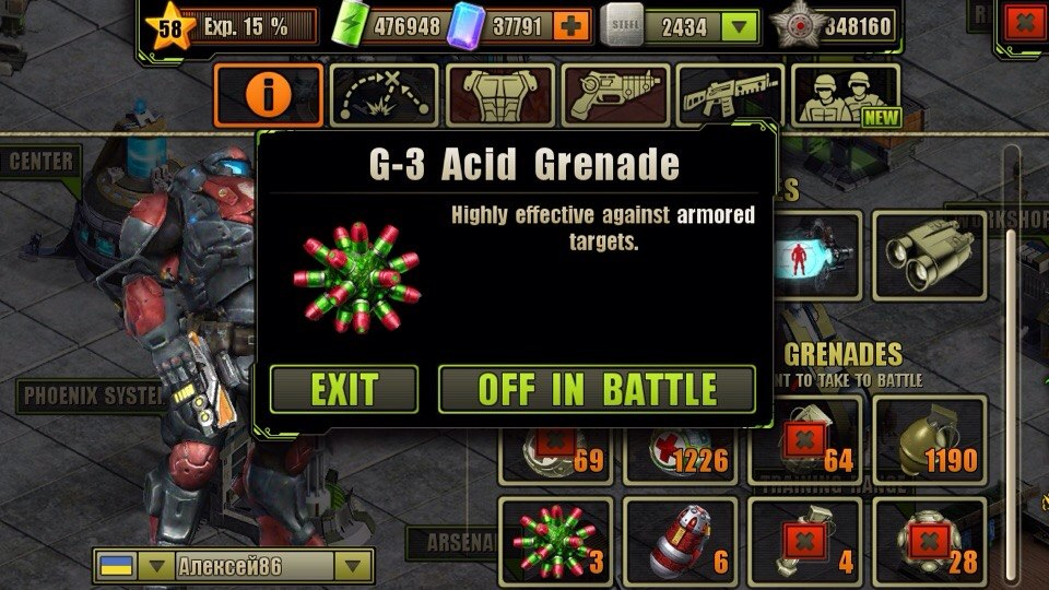 Do You Want to Take G-3 Acid Grenades to Next Battle?