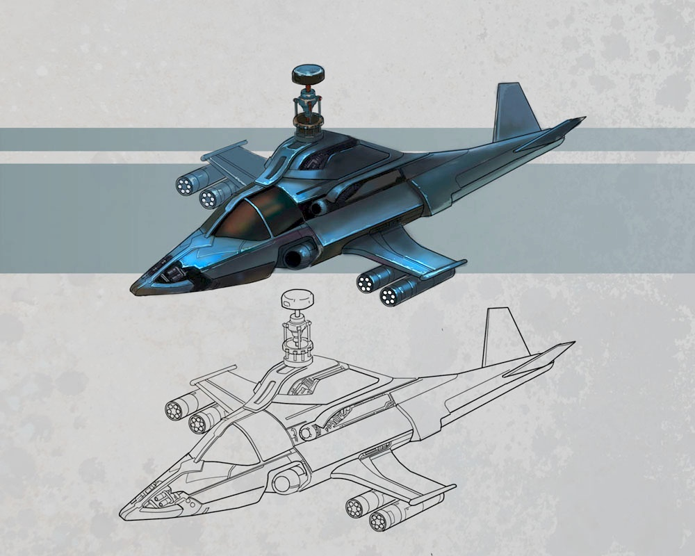 Black Phantom Helicopter Concept Art 2