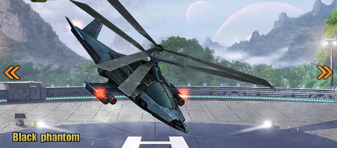 Black Phantom Helicopter Rendering 2