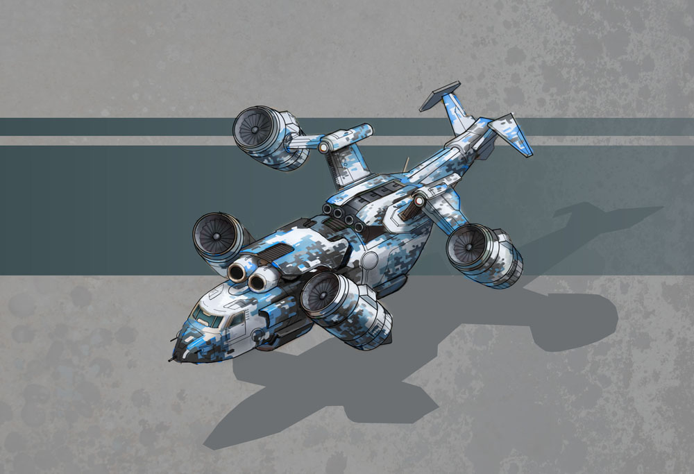 Titan Helicopter Concept Art 2