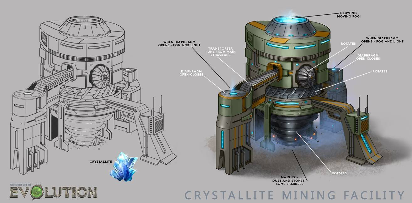 Crystallite Mine Concept Art
