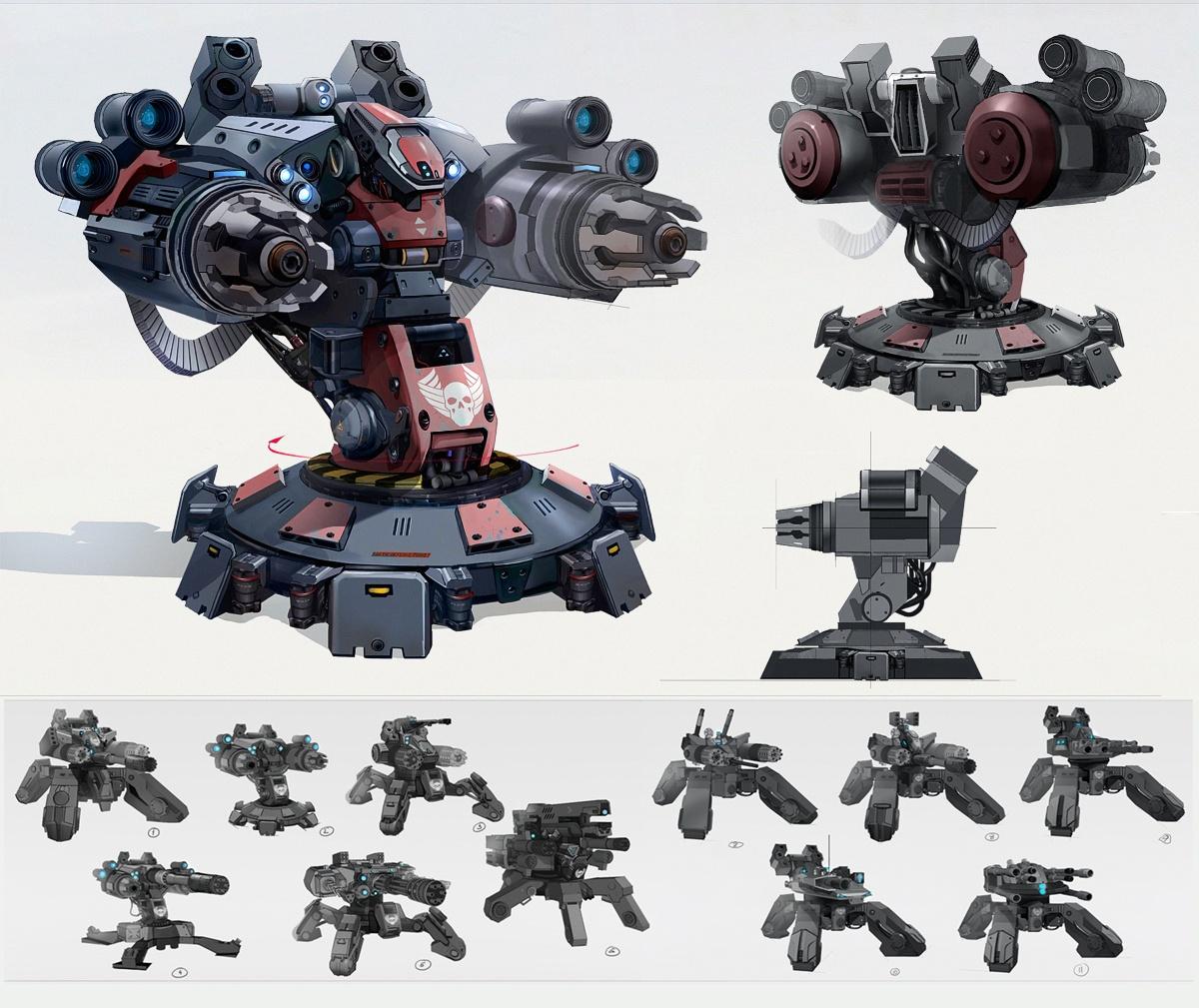 Black Hydra Turret Concept Art