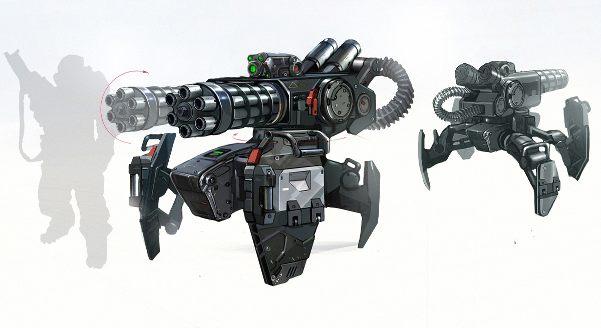 Hydra Turret Concept Art