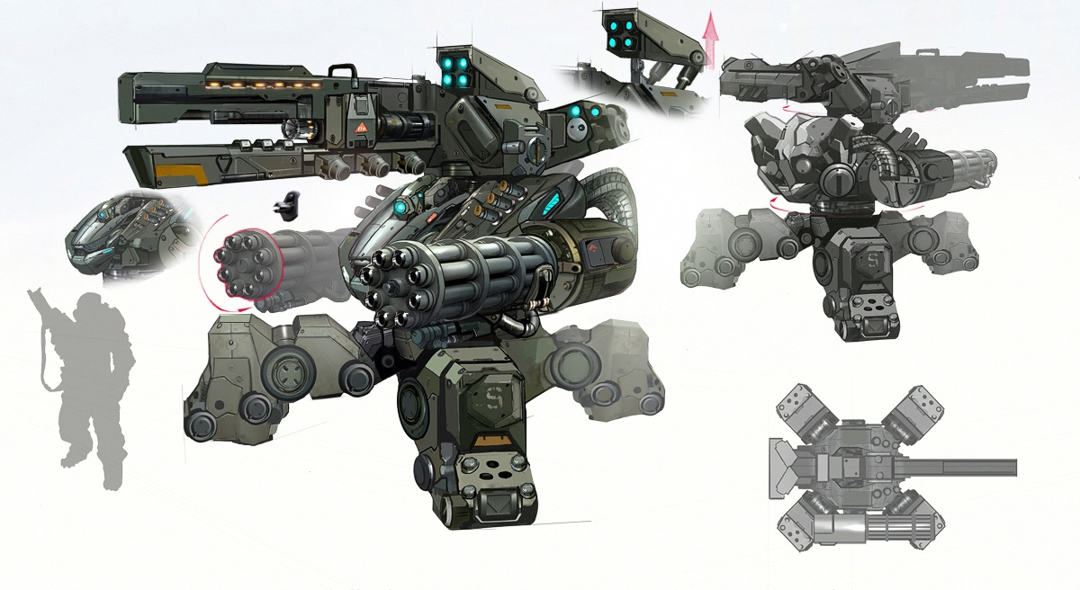 Maximus Turret Concept Art