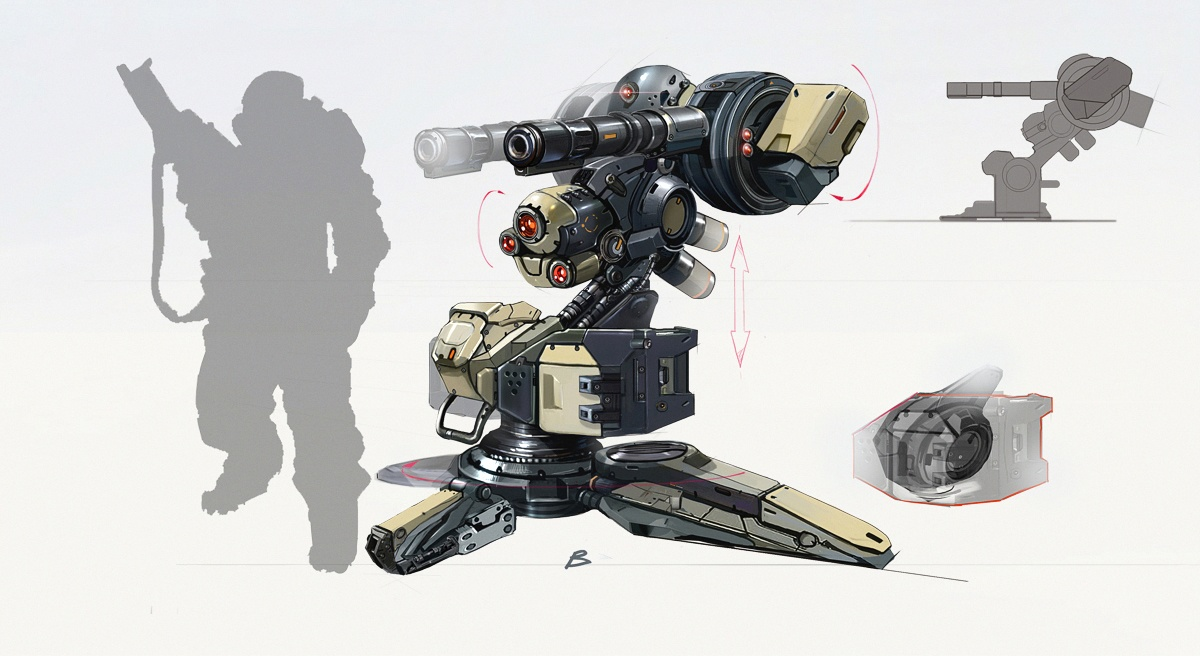 Vulture Turret Concept Art
