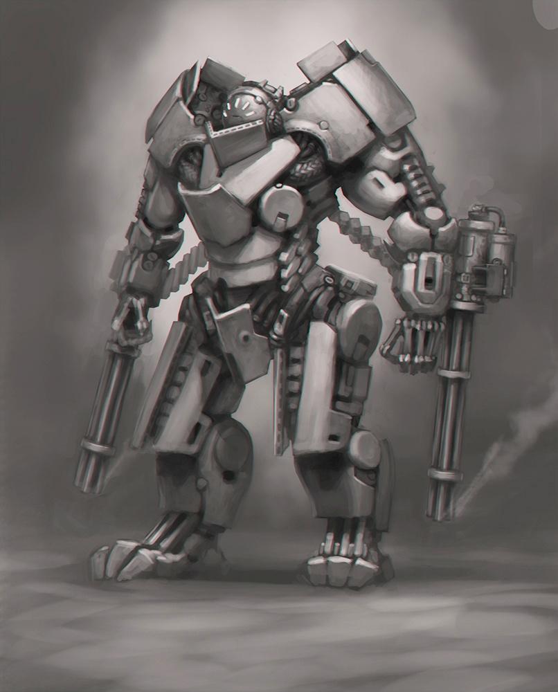General Kurbatov'sExoskeleton Concept Art