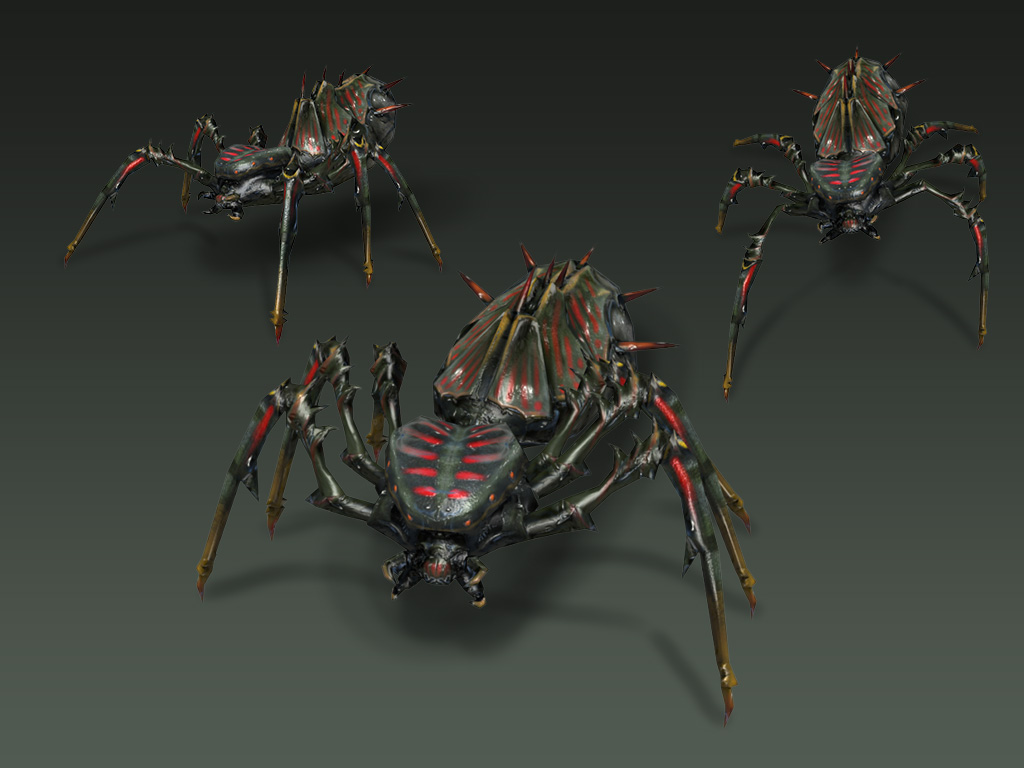 Spiders' Queen Rendering