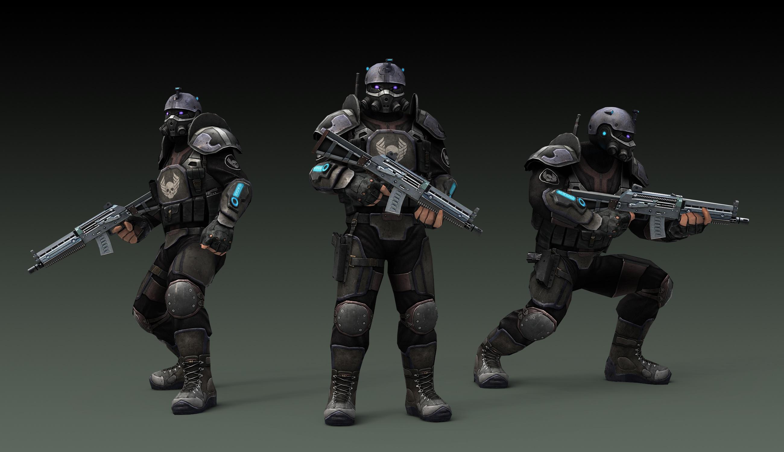 Пехотинец - визуализация
