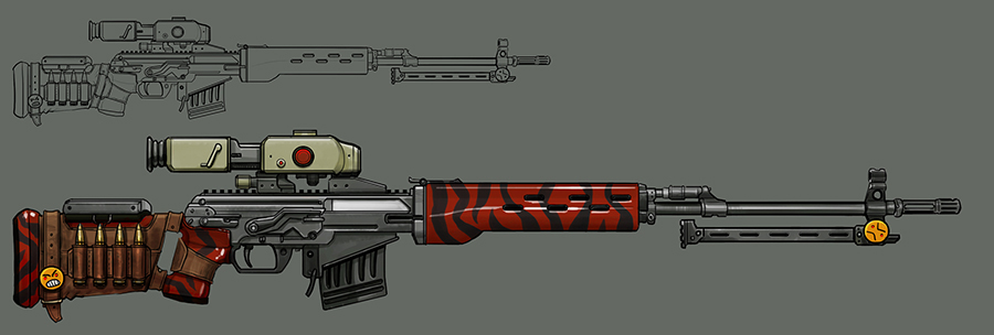 Sniper Rifle Concept Art