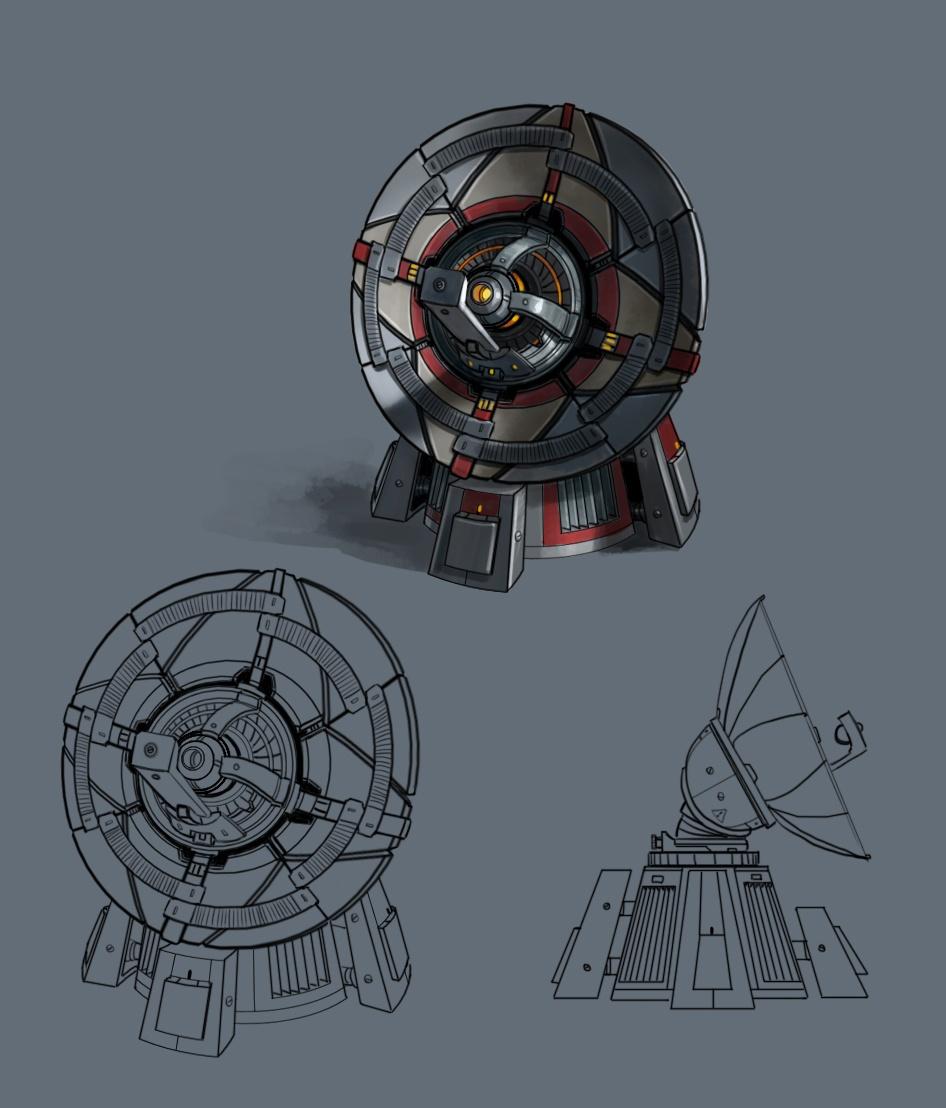Радиопеленгатор - концепт-арт