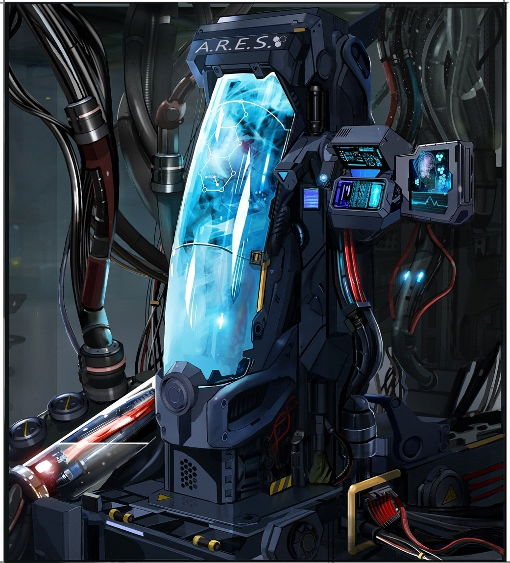 Project A.R.E.S. hyperbaric chamber, in which the captain of the Black Legion Walter Blake