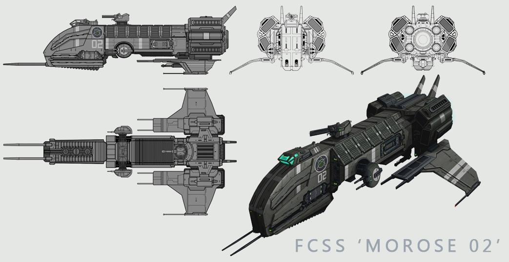 Federal Colonial Spaceship MOROSE 02