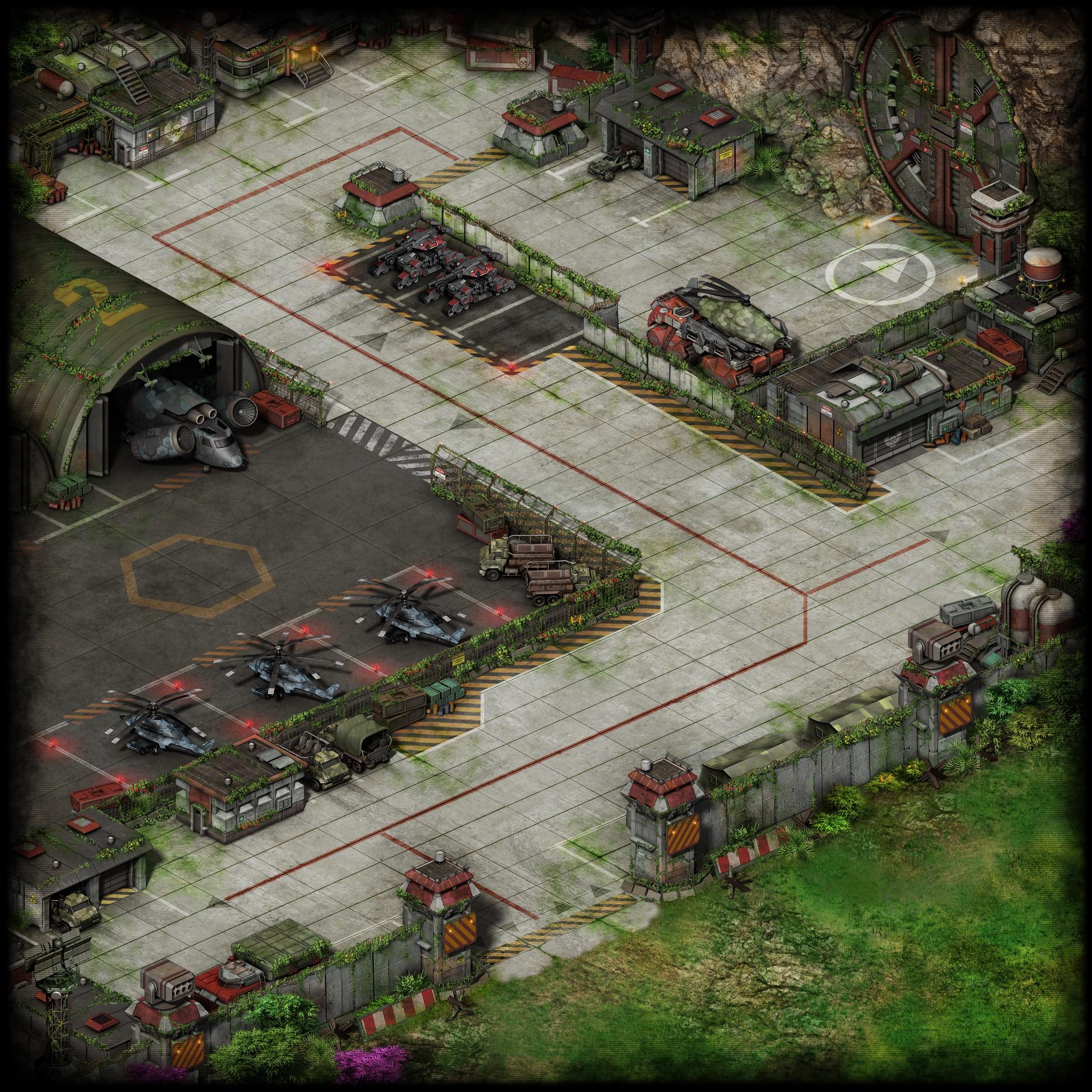 Вид локации База черного легиона после терраформирования