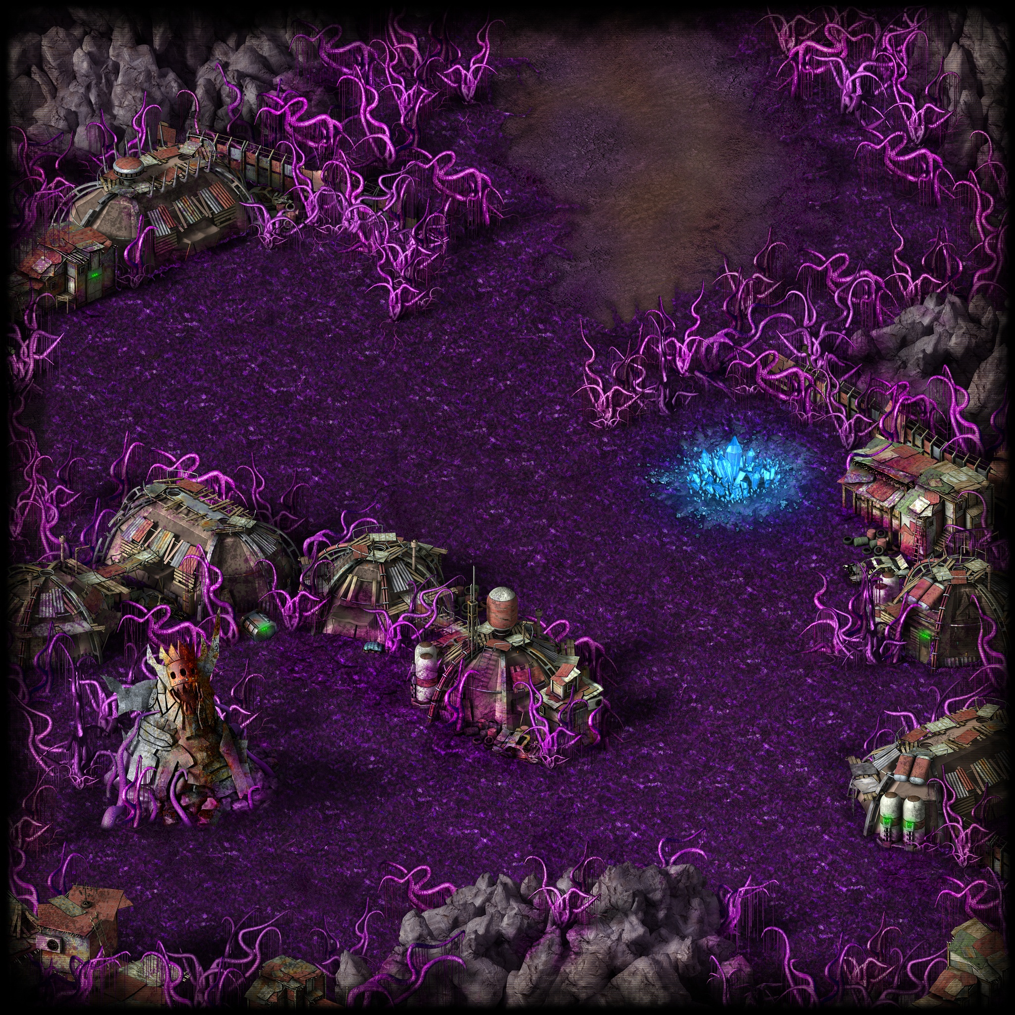 Initial View of Crystallite Deposit Location