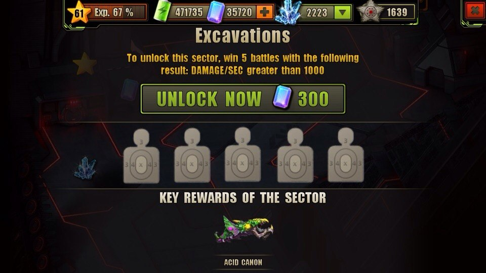 Excavations Location Unlock Requirement