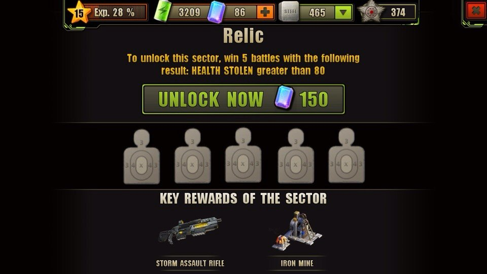 Relic Location Unlock Requirement