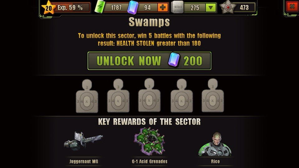 Swamps Location Unlock Requirement