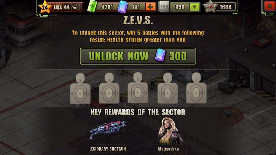 Z.E.V.S. Location Unlock Requirement