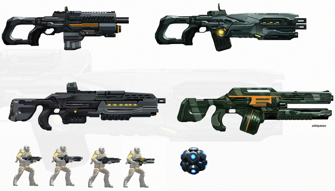 Assault Rifles Concept Art