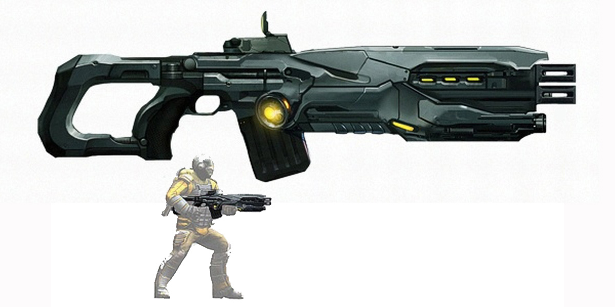 Avenger Assault Rifle Concept Art