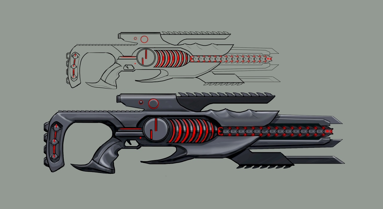Dominion Assault Rifle Concept Art (Final Version)