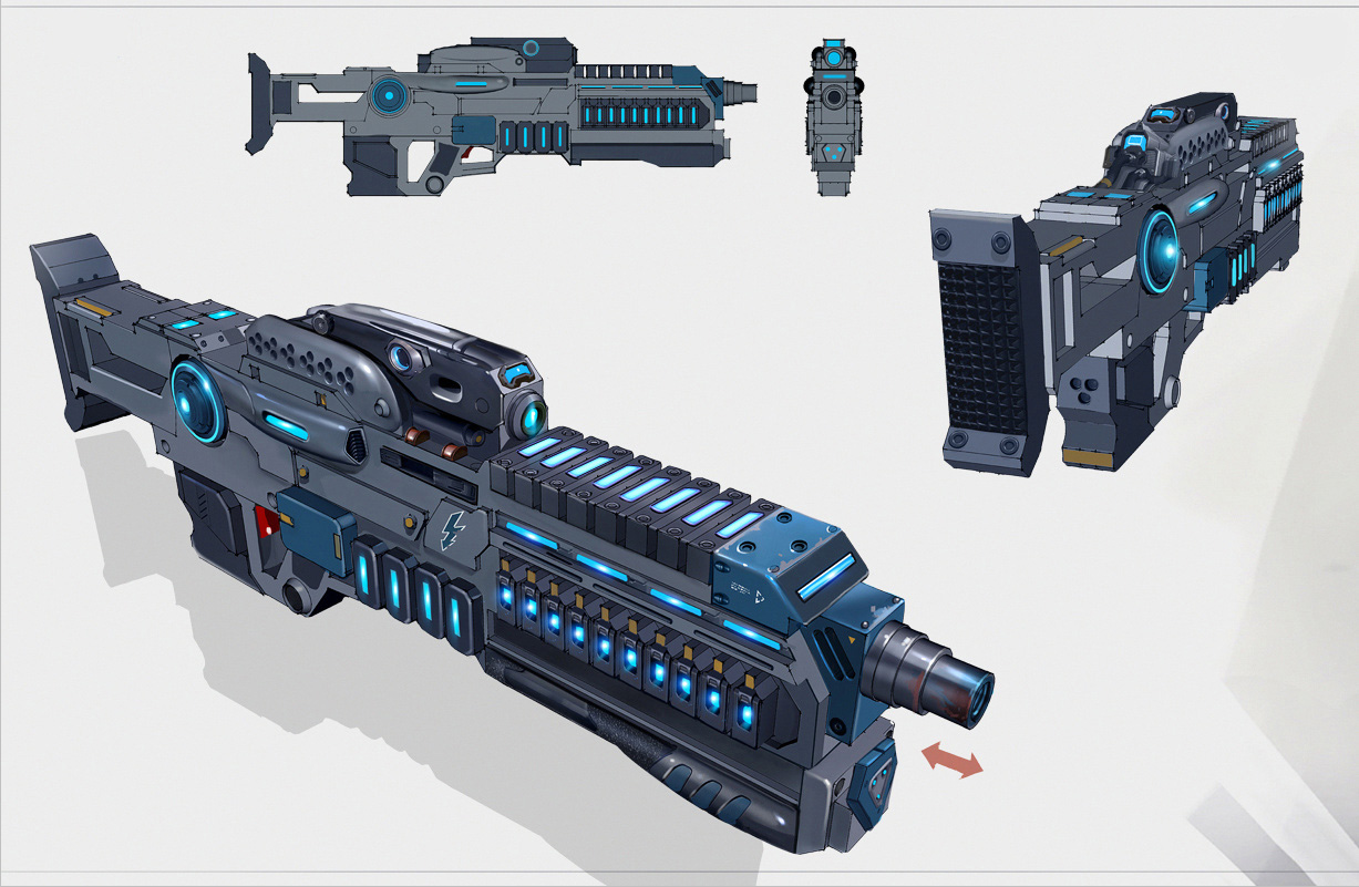 Megathrone-2 Assault Rifle Concept Art