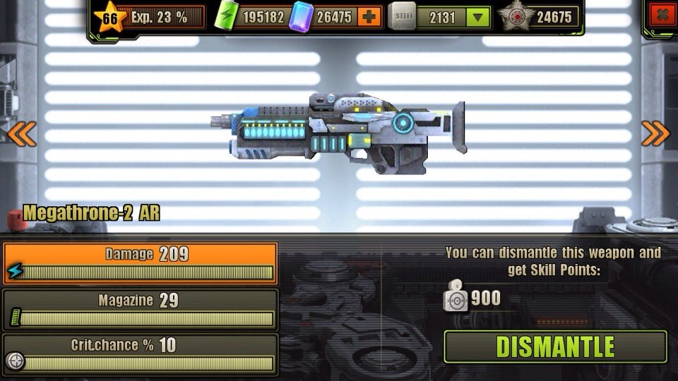 Fully Upgraded Megathrone-2 Assault Rifle