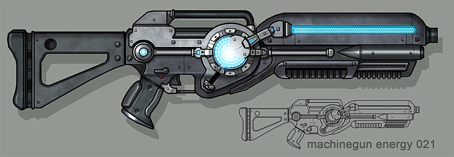 Megathrone Assault Rifle Concept Art
