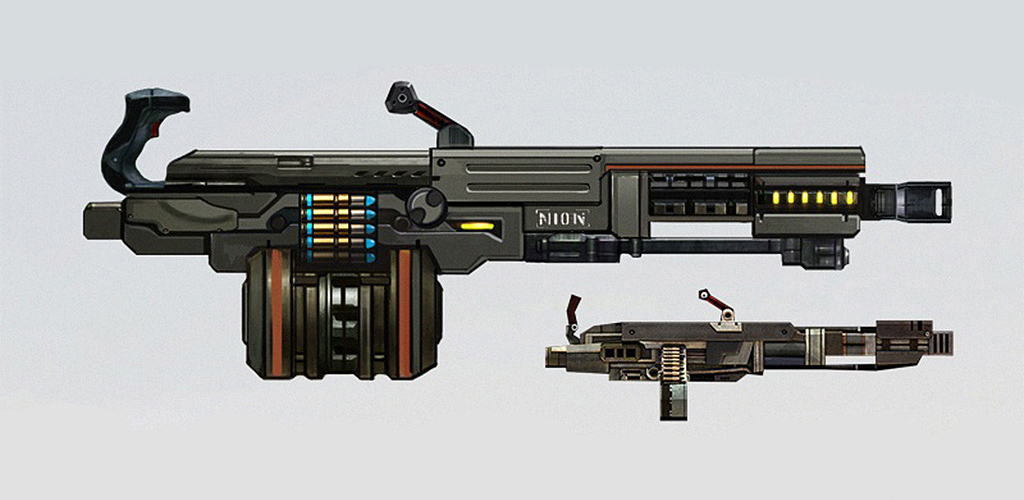 Commando Machine Gun Concept Art