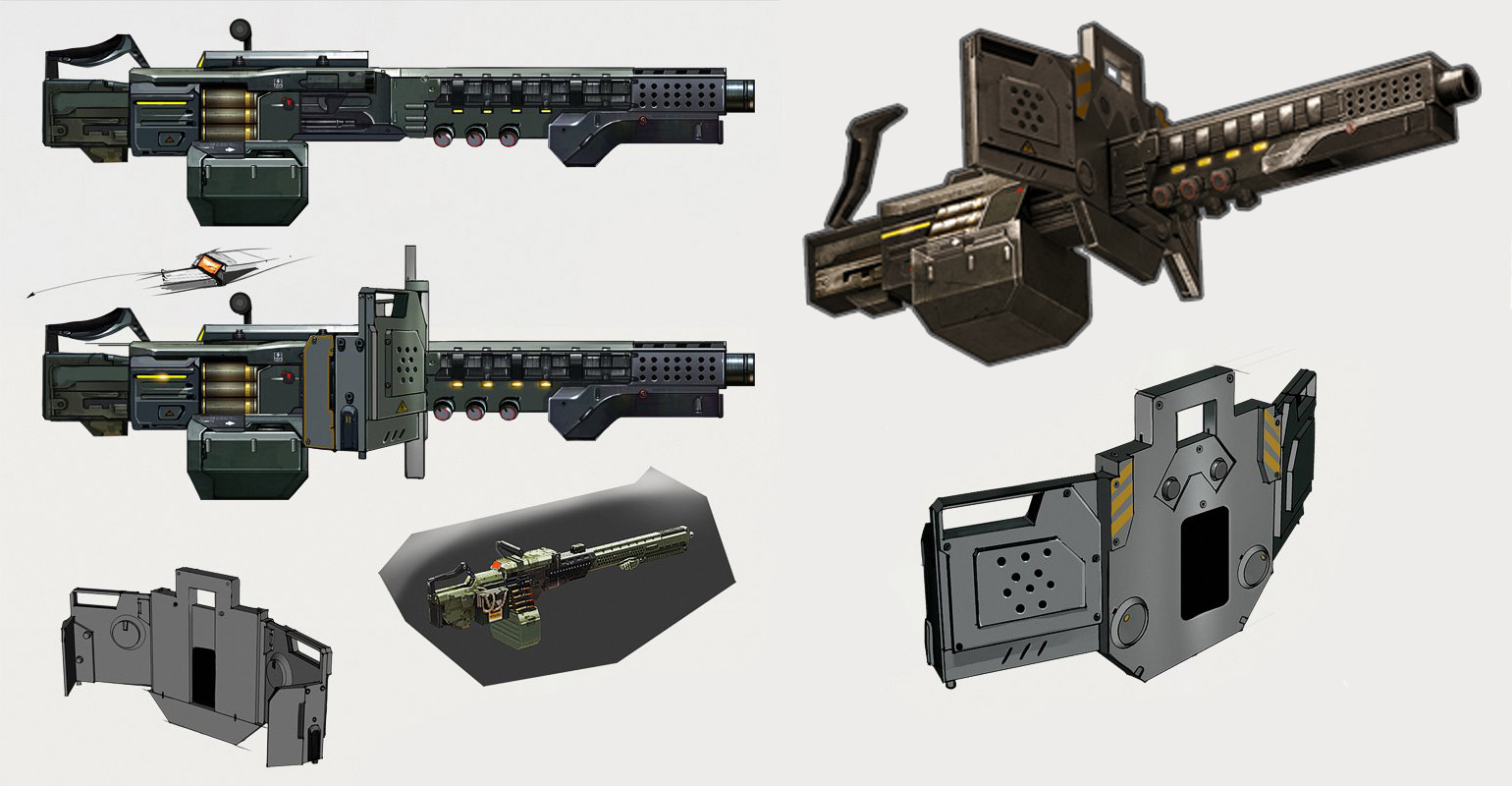 Juggernaut Machine Gun Concept Art