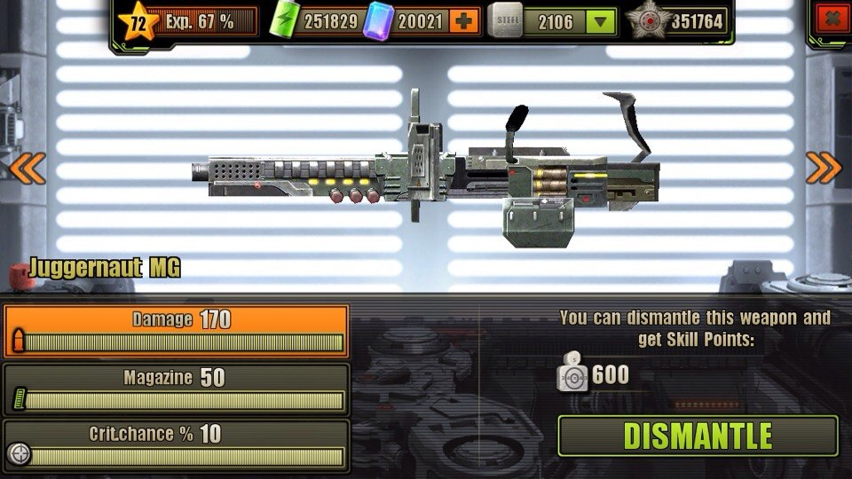 Fully Upgraded Juggernaut Machine Gun