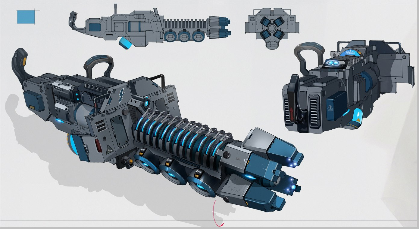 Megathrone Machine Gun Concept Art (Final Version)