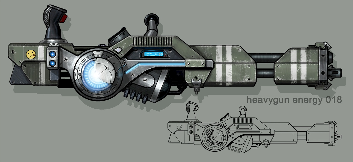 Megathrone Machine Gun Concept Art (First Version)
