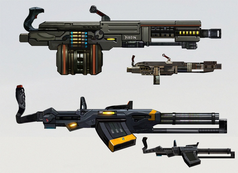 Machine Guns Concept Art