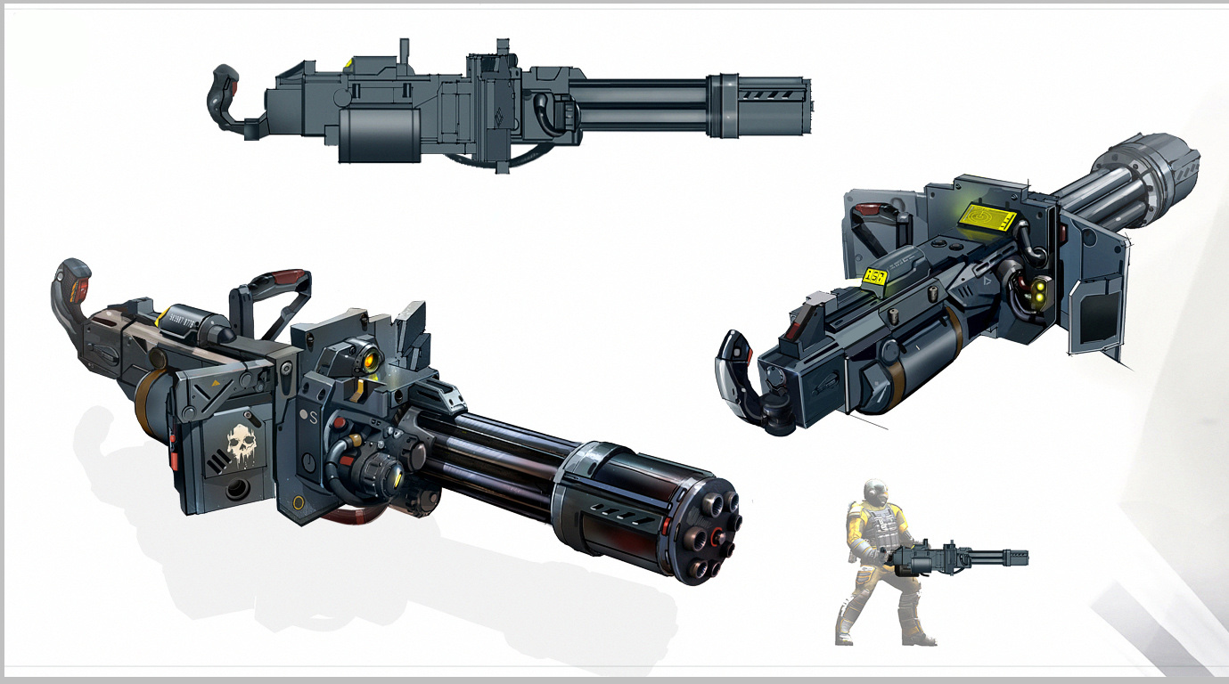 Moloch Machine Gun Concept Art