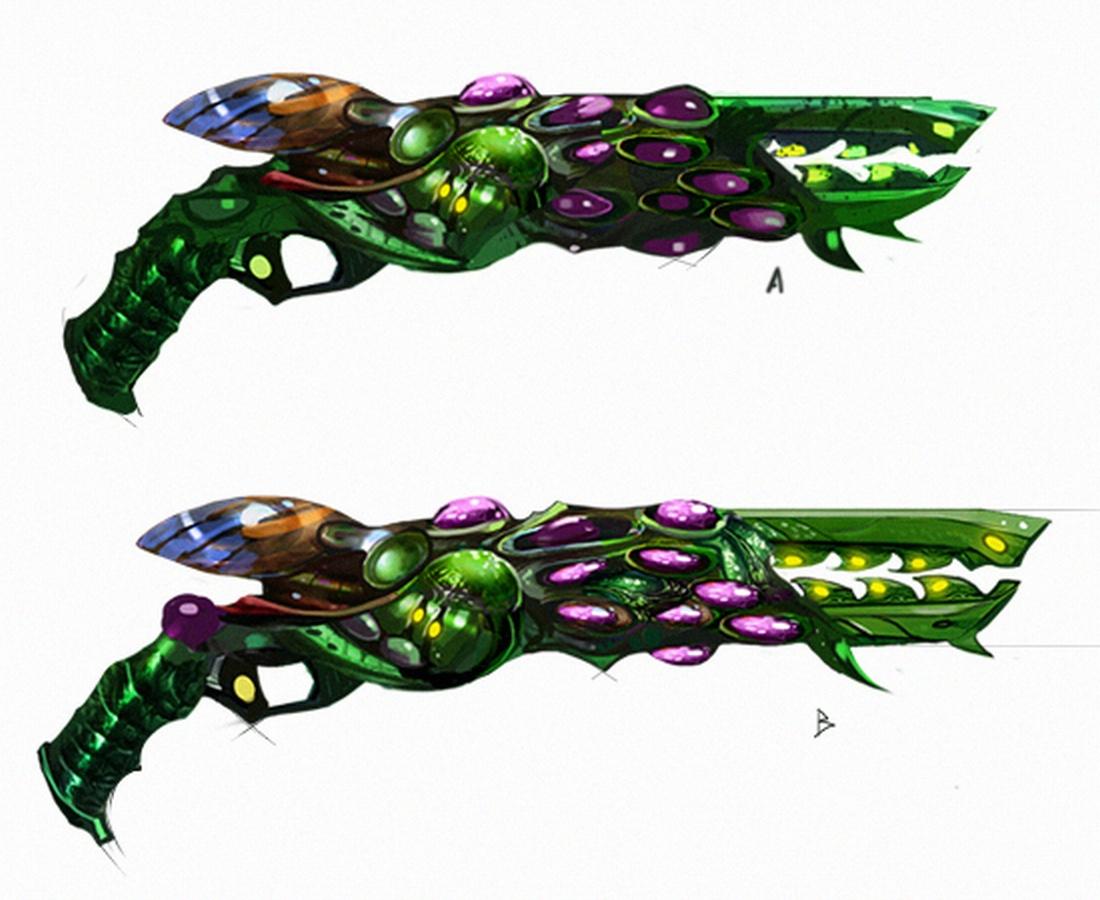 Кислотный пистолет - концепт-арт