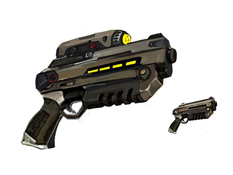 Bulldog Pistol Concept Art