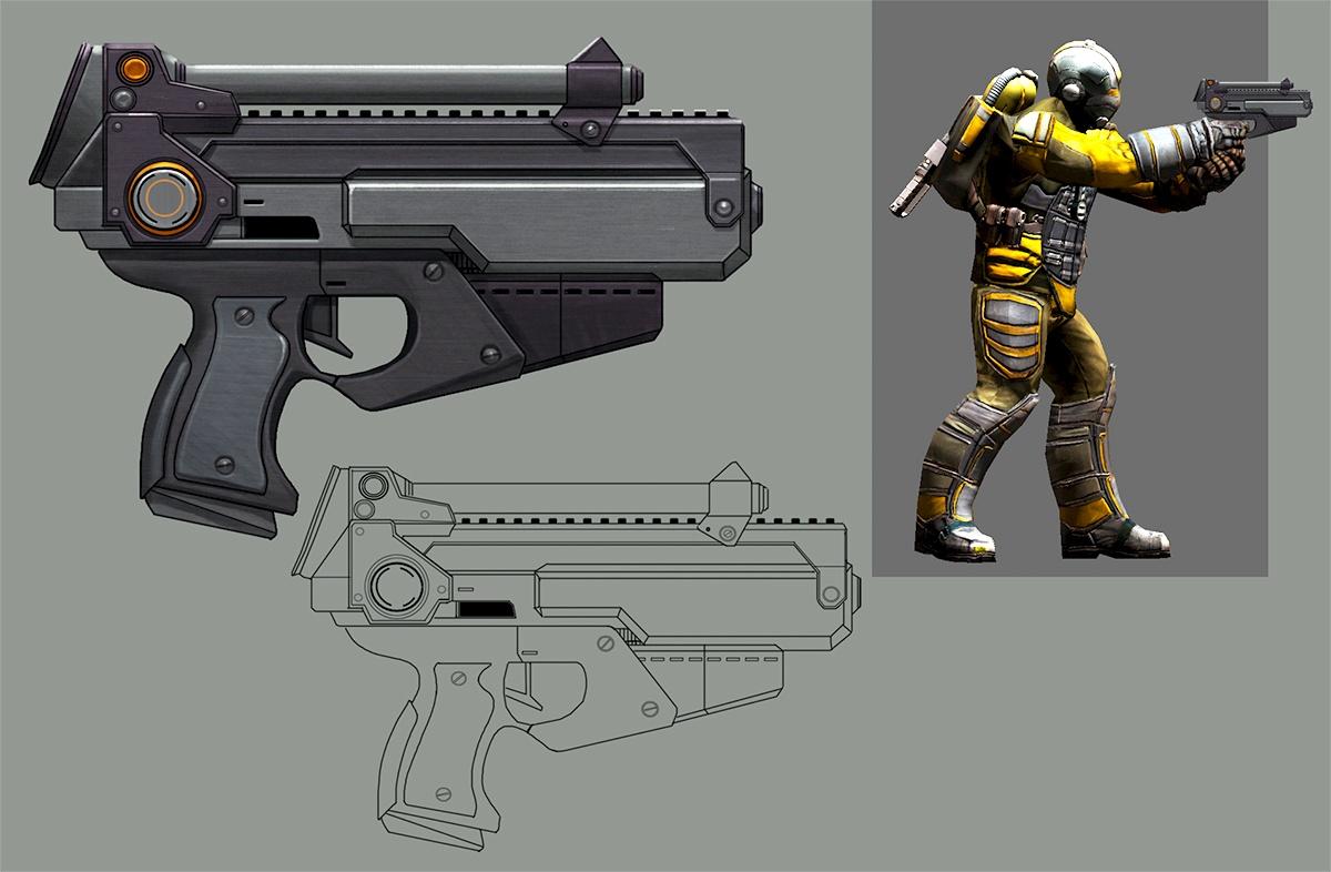 Пистолет Кобра - концепт-арт
