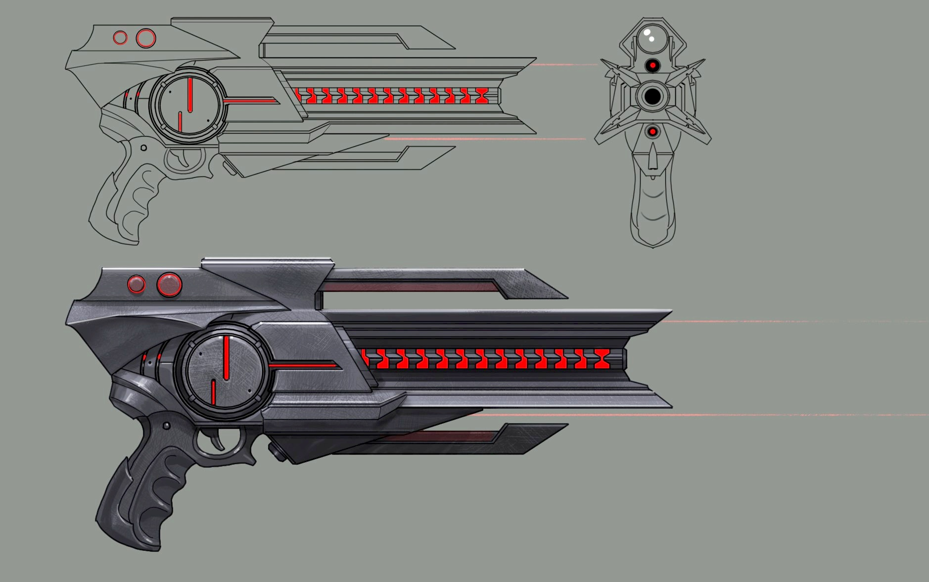 Dominion Pistol Concept Art (Final Version)
