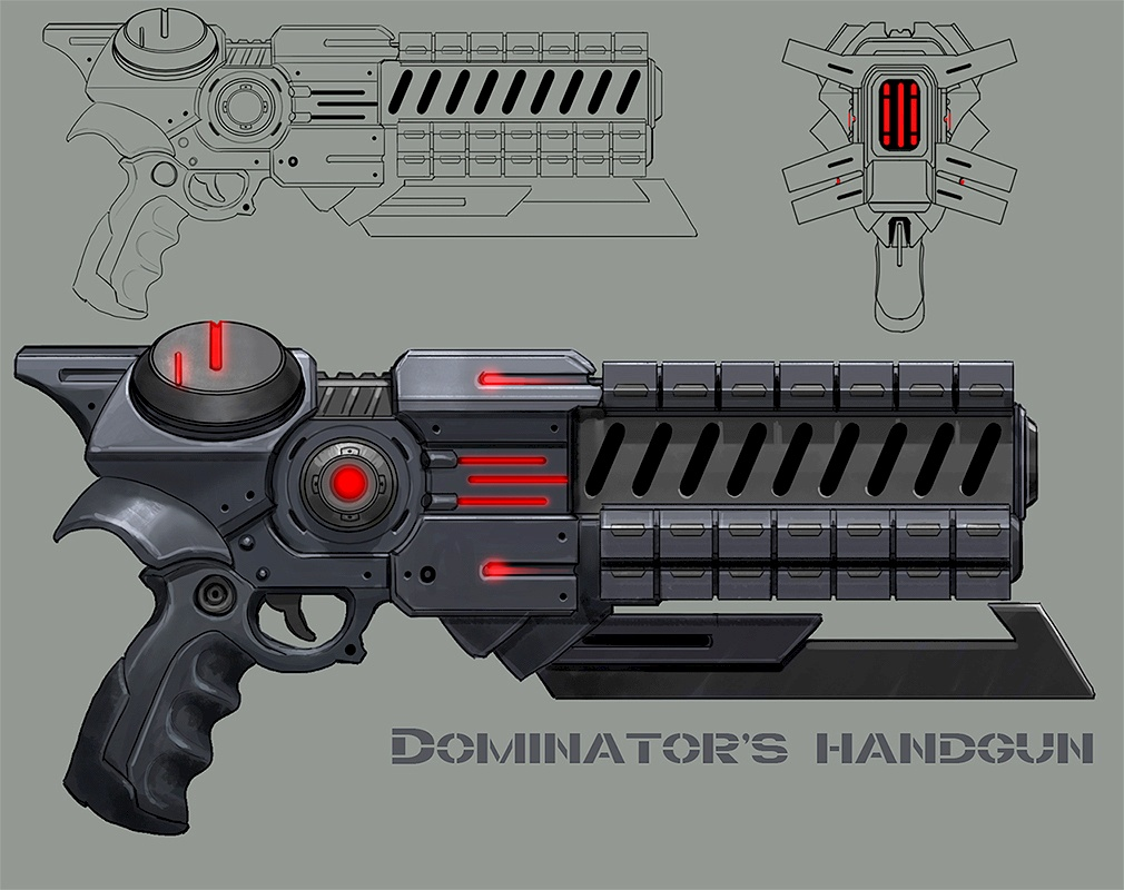 Dominion Pistol Concept Art (First Version)
