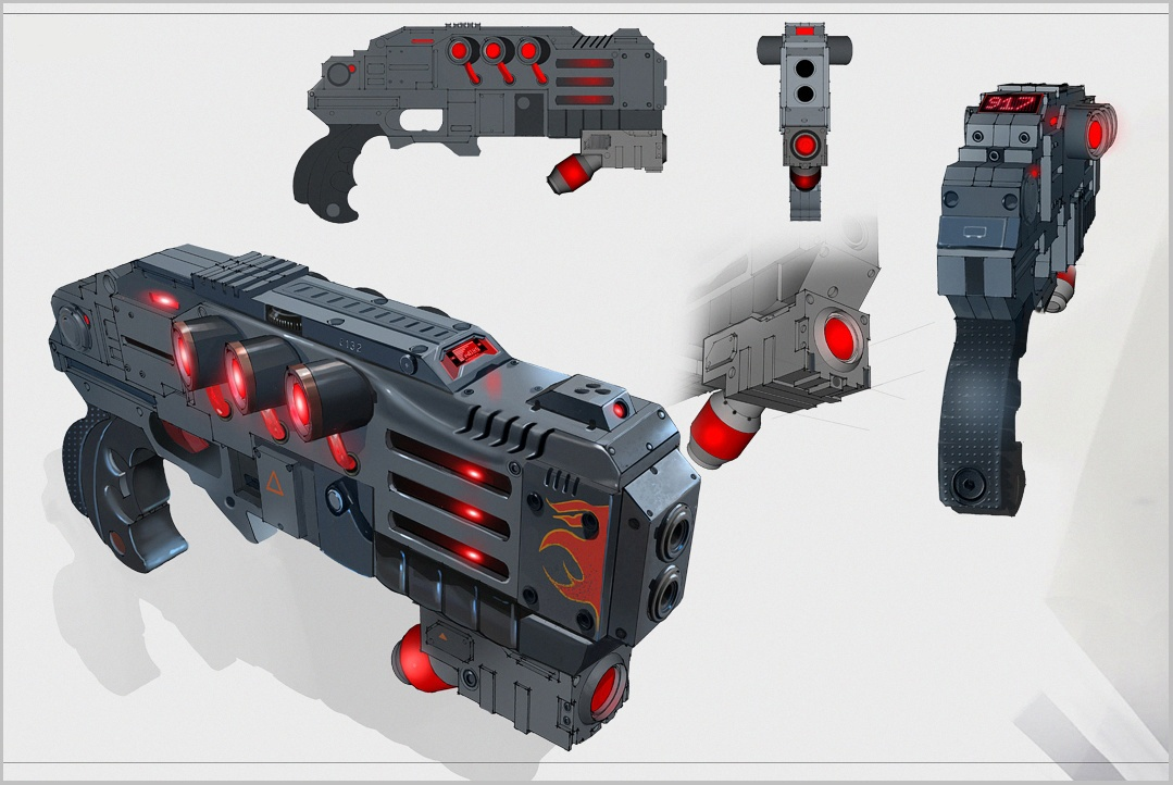 Dragon Pistol Concept Art