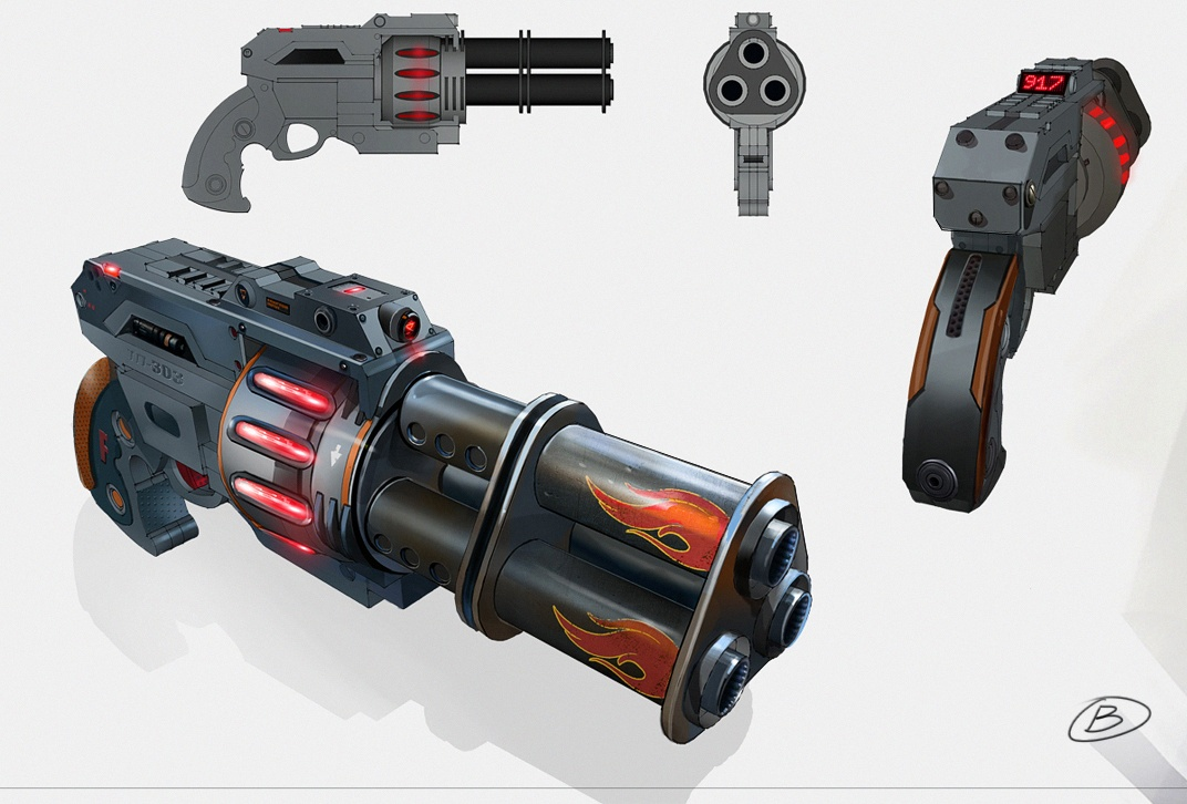Dragon-2 Pistol Concept Art (Alternative Version)