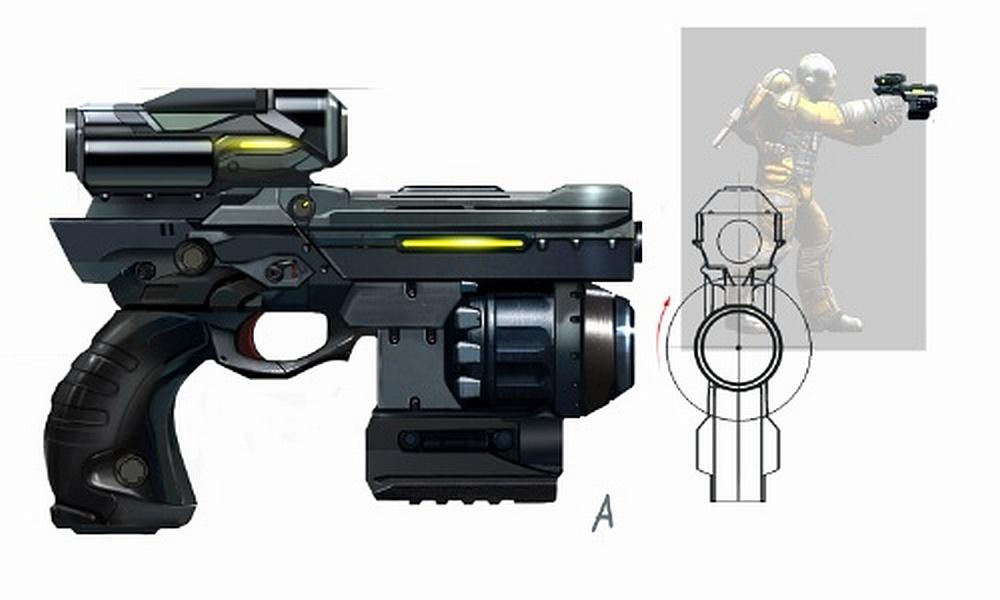 Kurbatov's Pistol Concept Art