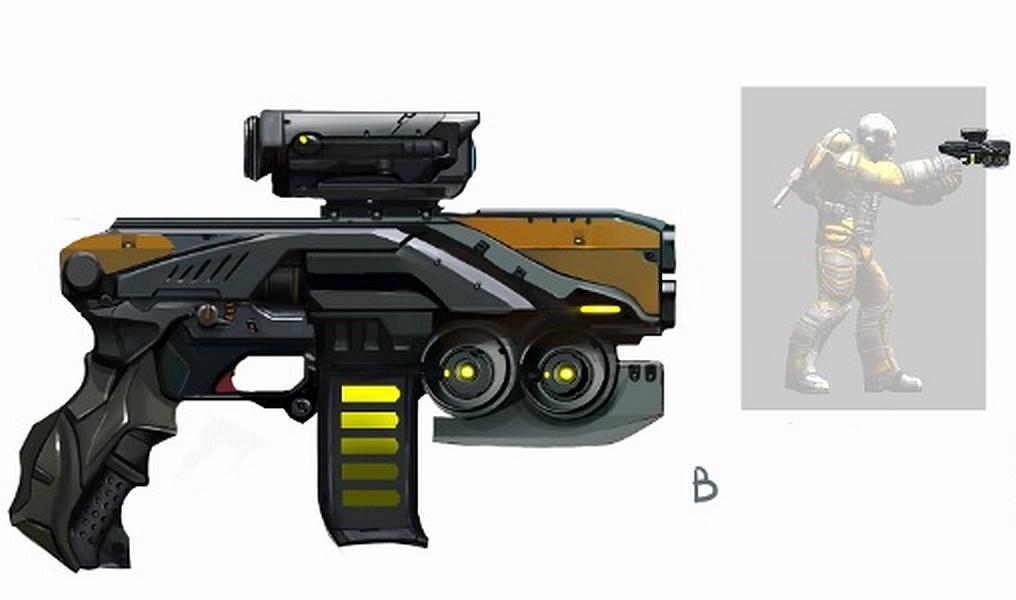 Пистолет-пулемет М5 - концепт-арт
