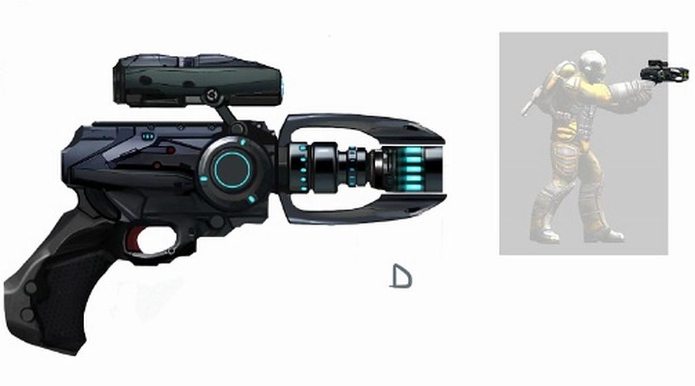 Пистолет Мегатрон - концепт-арт