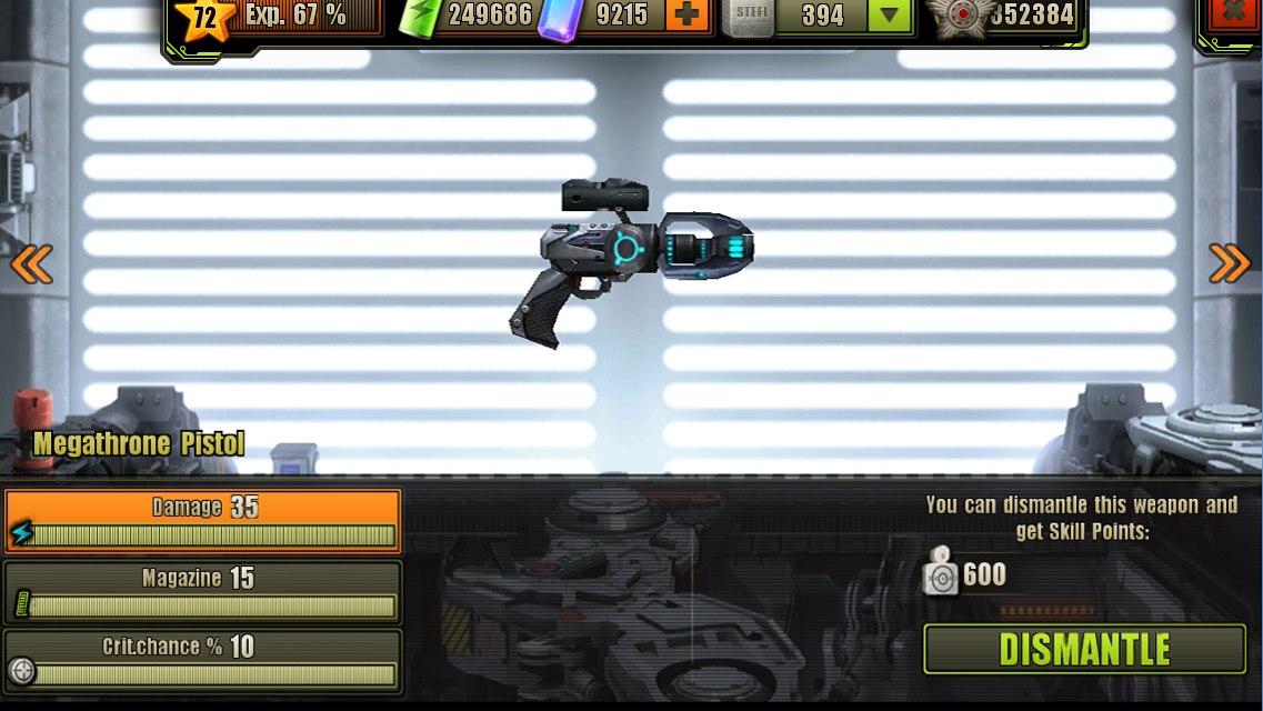 Fully Upgraded Megathrone Pistol