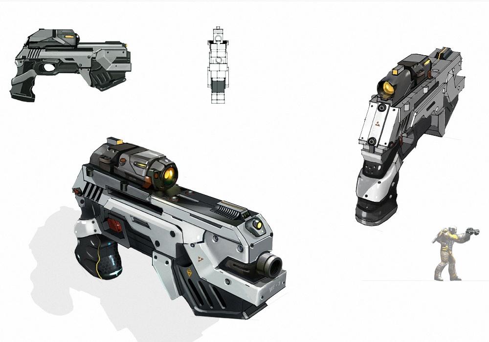 Pegasus Pistol Concept Art