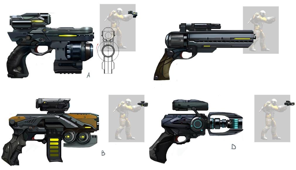 Пистолеты - концепт-арт
